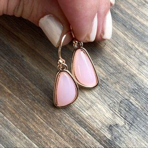 GOLD PINK QUARTZ DROP EARRINGS